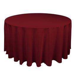 Round Burgundy Table Cloth