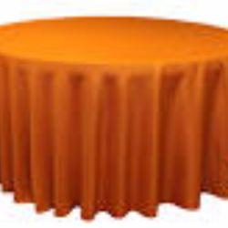 Round Burnt Orange Tablecloth