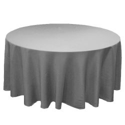 Round Charcoal Table Cloth