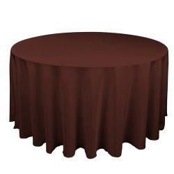 Round Chocolate Table Cloth