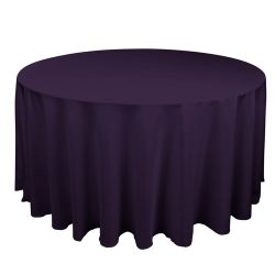 Round Eggplant Table Cloth