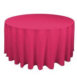 Round Fuchsia Table Cloth