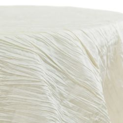 Round Ivory Accoridon Taffeta Table Cloth