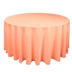Round Peach Table Cloth