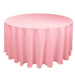 Round Pink Table Cloth