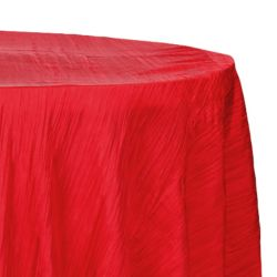 Round Red Accordion Table Cloth