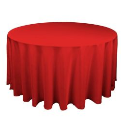 Round Red Table Cloth