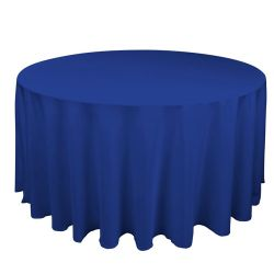 Round Royal Blue Table Cloth