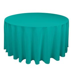 Round Turquoise Table Cloth