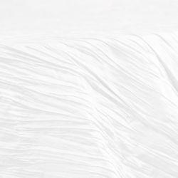 Round White Accordion Taffeta Table Cloth