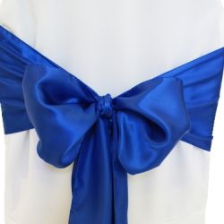 Royal Blue Satin Sashes