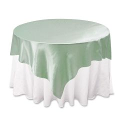 Sage Green Satin Overlay