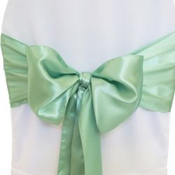 Sage Green Satin Sashes