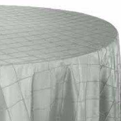 Silver Pintuck Tablecloth