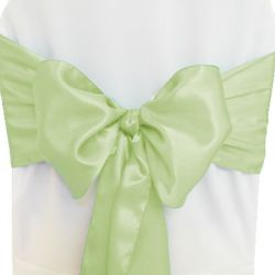 Tea Green Satin Sashes