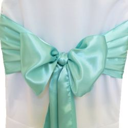 Tiffany Blue Satin Sashes