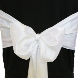 White Satin Sashes