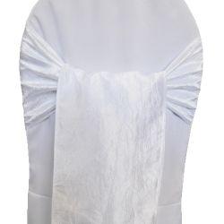 White Taffeta Sashes