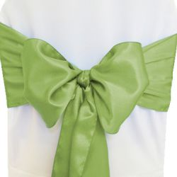 Willow Green Satin Sashes