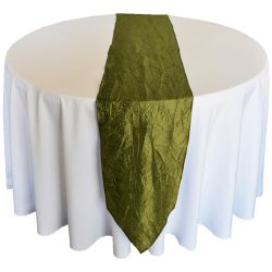 Willow Green Taffeta Runner