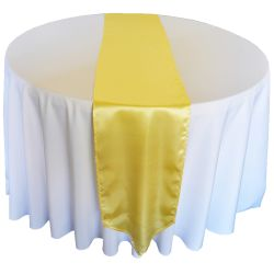 Yellow Satin Runner