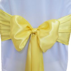 Yellow Satin Sashes