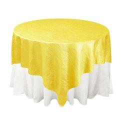 Yellow Taffeta Overlay