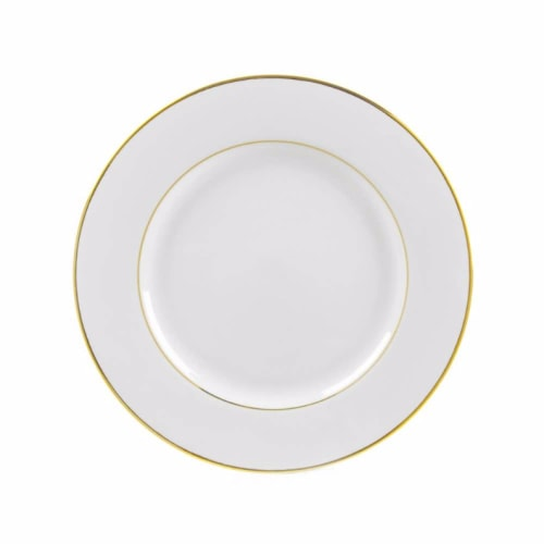 """10.5"""" Gold Rimmed Plate"""