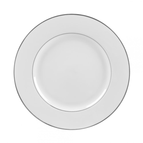 "10.5"" Silver Rimmed Plate"