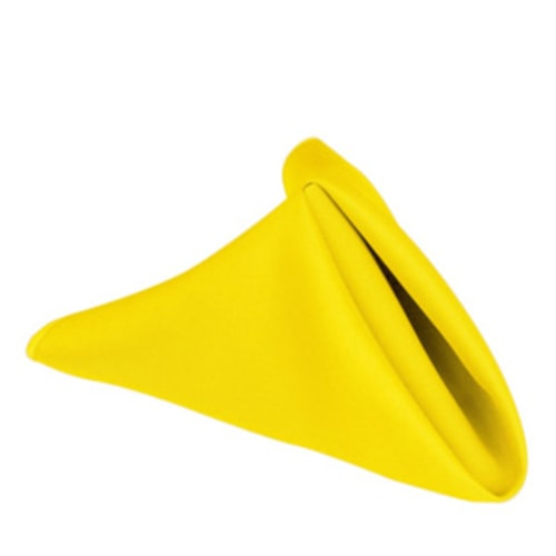 "17"" Poly Napkin Lemon"