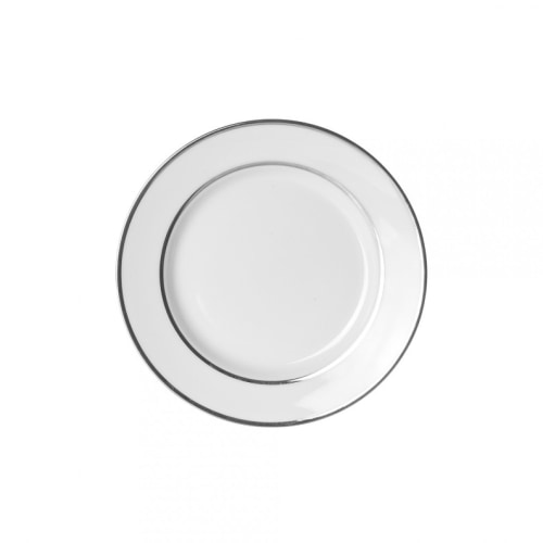 "7.5"" Silver Rimmed Salad Plate"