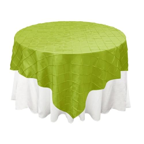 Apple Green Pintuck Overlay