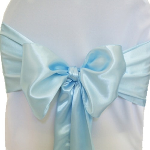 Baby Blue Satin Sashes