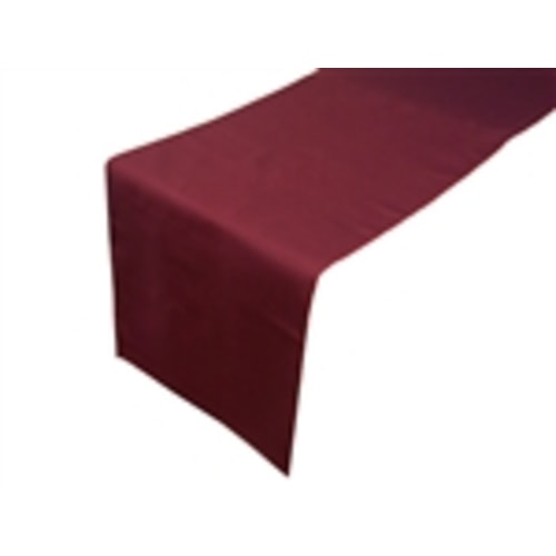 Burgundy Linen Table Runner