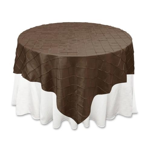 Chocolate Pintuck Overlay