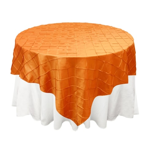Orange Pintuck Overlay