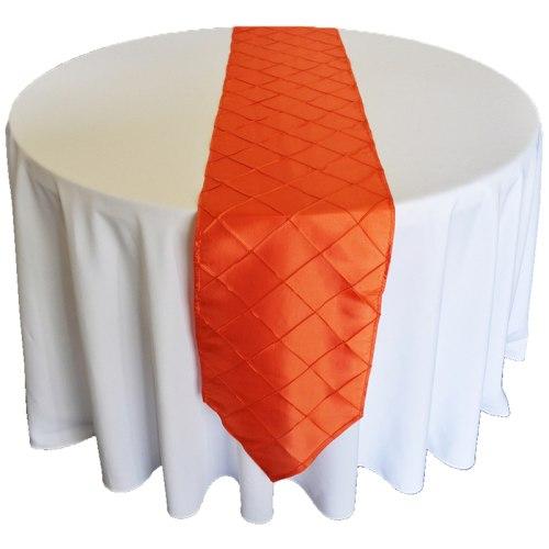Orange Pintuck Runner