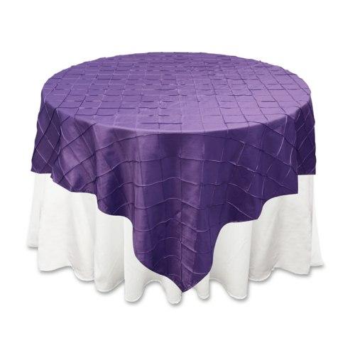 Purple Pintuck Overlay