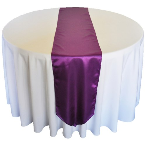 Purple Satin Runner