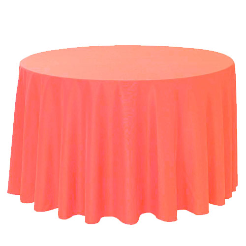 Round Coral Table Cloth