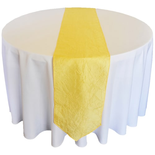 Yellow Taffeta Runner