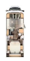 Durchdacht und harmonisch - der Sunlight t68 bietet auf einer Länge von 7,40 Metern alles was für einen tollen Wohnmobil - Urlaub gebraucht wird.