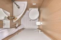 Toilette, Dusche, Waschbecken - alles in der Sanitärkabine...
