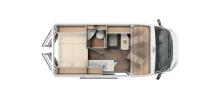 """Der Carado 540 bietet auf 5,45 Metern Länge alle Vorzüge eines """"großen"""" Wohnmobils, verbunden mit Wendigkeit und Fahrdynamik"""