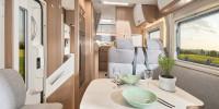 Durchdacht und formschön. Der Innenraum dieses Campers überzeugt mit großzügigen Dimensionen, viel Platz, toller Funktionalität. Die Verarbeitung und die Materialien überzeugen - eben Qualität Made in Germany.