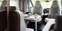 Ob zwei oder vier Personen, die Sitzgruppe bietet Platz für schöne Stunden im Camper...