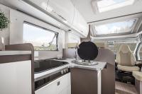 Werden Sie kulinarisch kreativ, die Küche in diesem Wohnmobil bietet alles für gutes Essen...