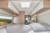Hier schläft sichs gut - Im Carado 540 ist das Bett 1,95 Meter lang, im oberen Bereich 1,33 und im Fussbereich 1,30 Meter