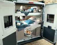Chausson 594 MAX Stockbetten - Hier können 4 Personen gut schlafen / wahlweise kann auch das untere oder das obere Bett (oder beide) heraus genommen werden