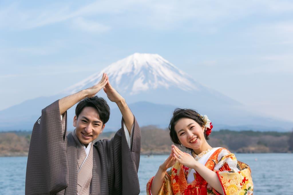 富士山ポーズ
